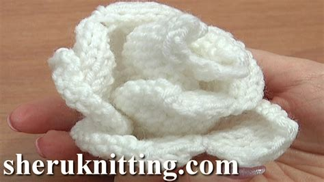 knitted flower pattern youtube knit rose flower pattern tutorial 13 free flower knitting
