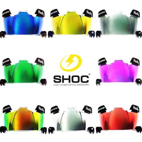 colored football visors shoc insert for football or lacrosse helmet visor