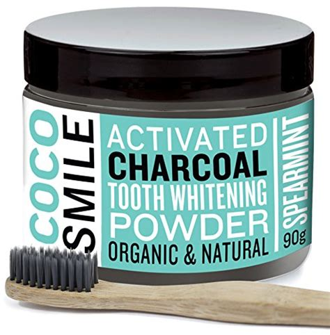 cocosmile activated charcoal teeth whitening powder review