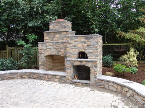 Bathroom Vanities Portland Oregon by Outdoor Fireplace With Pizza Oven Traditional Portland