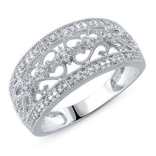 Zales S Day Rings 1 10 Ct T W Vintage Style Anniversary Band In