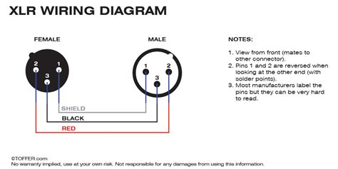 3 pin xlr wiring diagram toffer
