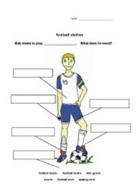 worksheet football clothes