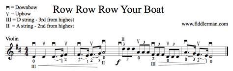 row your boat violin learn to play row row row your boat on the violin learn