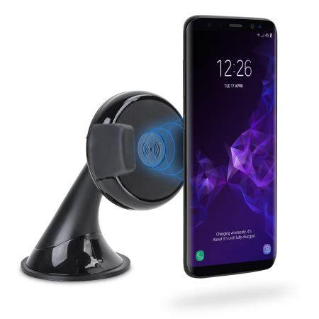Samsung Galaxy S10 Qi by Samsung Galaxy S9 Qi Wireless Charging Windscreen Dash Car Holder