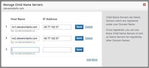 cara membuat nameserver di panel webuzo pada vps idcloudhost cara mengatur nameserver domain untuk webuzo hosting