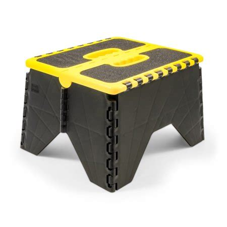 Non Skid Step Stool by Camco 43637 Non Skid Rv Folding Step Stool Yellow Black