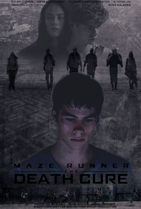 the maze runner movie poster fan made the maze runner maze runner the death cure fan made poster 2 by