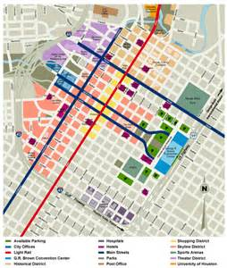 map of downtown houston map map of houston downtown