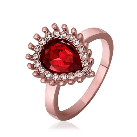 red stone rings shop for red stone rings on polyvore aliexpress com buy red stone ring aneis joias white gold