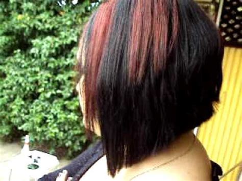 v diagonal hairstyle womens haircut part 9 avi youtube