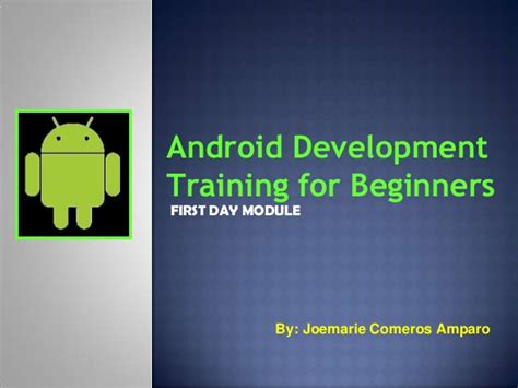 android development for beginners android development for beginners with sle project day 1