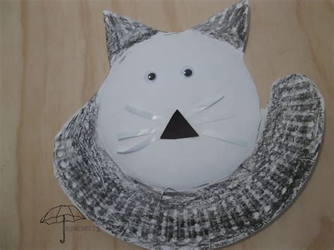 Paper Plate Cat Craft - cat crafts for an afternoon of