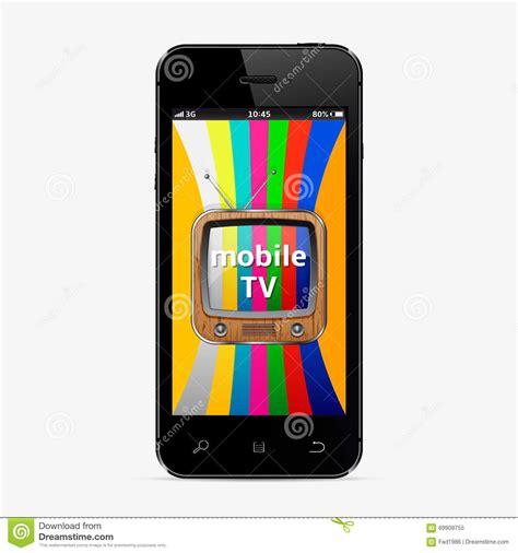 Tv Mobil Concept mobile smart tv concept stock vector image of icon retro