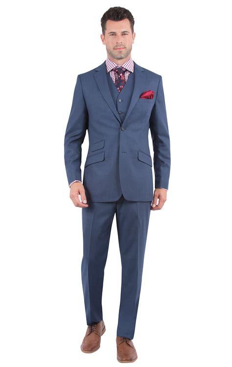 Slim Fit maddox solid blue slim fit suit menswear bachrach