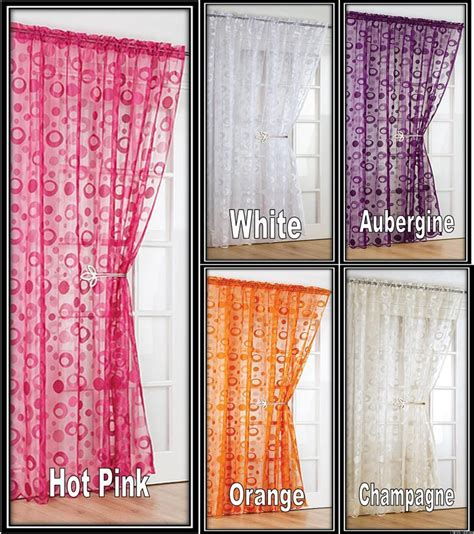 Modern Vintage Curtains Modern Retro Voile Net Curtain Panel 54 Quot 72 Quot 90 Quot Same Day Dispatch Free Post Ebay