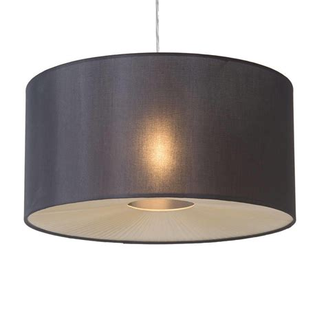 Big Ceiling Light Shades by Large Ribbon Drum Easy To Fit Ceiling Shade Black From