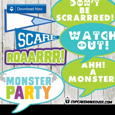 Monsters Inc Wall Stickers monsters photo props party decorations instant download