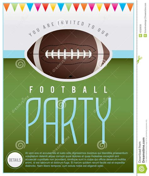 Football Party Flyer Stock Vector Illustration Of Party 42329530 Free Tailgate Flyer Template