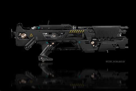 design gun game cool futuristic weapon designs