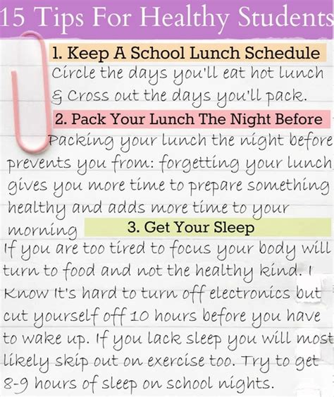 simply taralynn 15 tips for healthy students