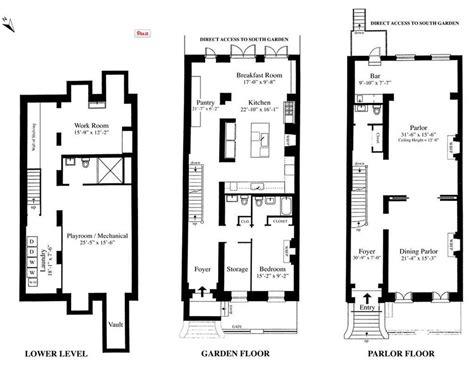new york townhouse floor plans sarah jessica parker s townhouse floorplan sarah jessica