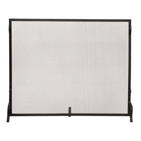 Single Panel Fireplace Screens by Uniflame Black Wrought Iron Large Single Panel Sparkguard Fireplace Screen S 1028 The Home Depot