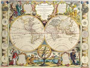 antique maps of the worlddouble hemisphere mapjean