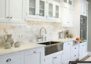 4 white calacatta gold marble subway white countertop idea