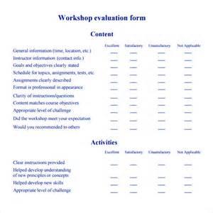 workshop checklist template workshop evaluation form 10 free in pdf