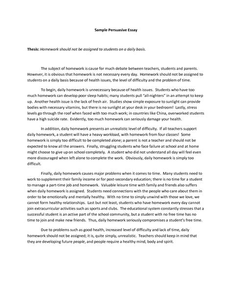 Writing A Persuasive Essay by Persuasive Essay Definition Essays