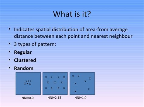 point pattern analysis nearest neighbor nearest neighbour index