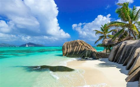 seychelles country  east africa blue water tropical sand