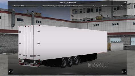 trailer white trailer profiliner skinable ets 2 mods