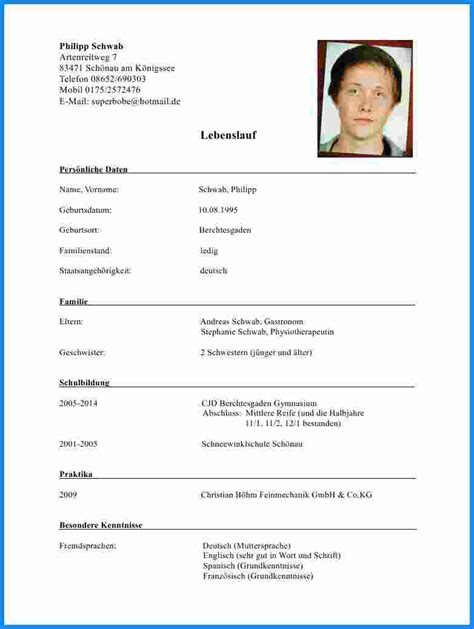 Lebenslauf Ledig Familienstand Lebenslauf Business Template