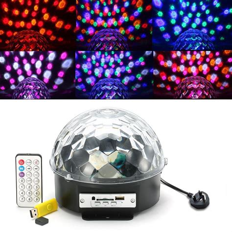 Mp3 Player Magic Sound Activated Led Disco Unik kingso color changes magic rgb mp3 sound actived with remote auto flash