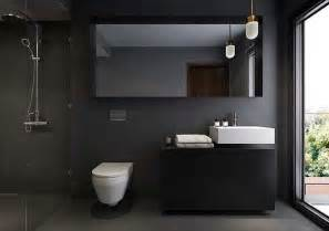 Home modern bathroom dark grey tile ideas for modern