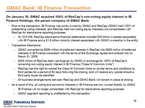 gmac bank finance holdings the parent company of gmac bank prior to