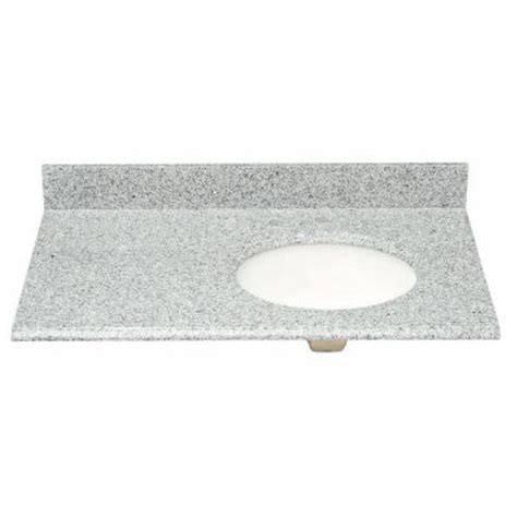 offset bathroom vanity tops pegasus 37 in w granite vanity top in napoli with offset
