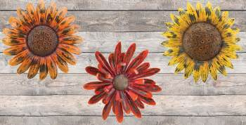 Floral Wall Decor by Rustic Flower Wall Decor Teton Timberline Trading