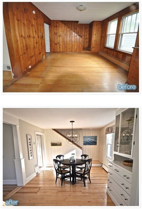 painted wood paneling before and after 25 best ideas about wood paneling update on pinterest