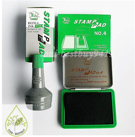 booth design refill pads best quality st pad green ink permanent water proof