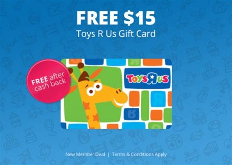 Topcashback Gift Cards - free toys r us 15 gift card after topcashback rebate