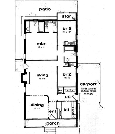 Ranch Home Remodel Floor Plans by Country Style House Plans 1300 Square Foot Home 1