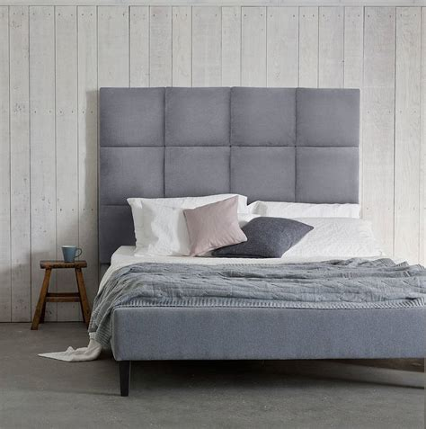 Headboard Beds by Beatrice Panelled Headboard Upholstered Bed By Your Home Notonthehighstreet