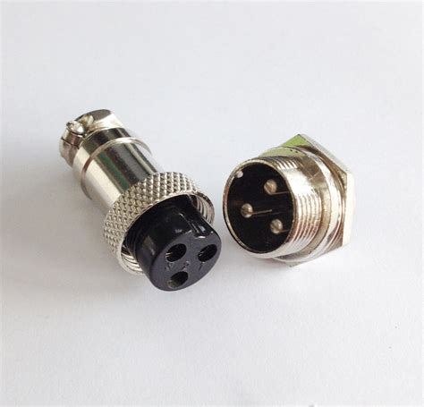 4 pin l socket m16 16mm 3 pin type electrical aviation plug socket