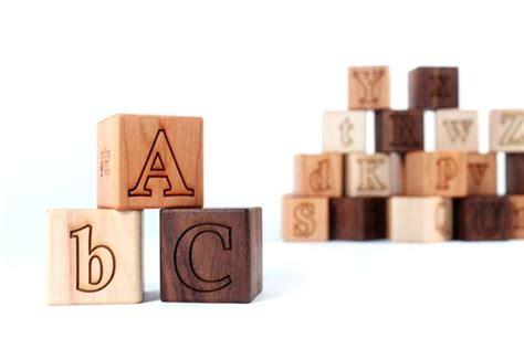 wooden block letters alphabet blocks smiling tree 1723