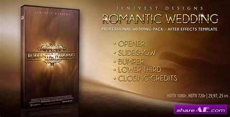 Romantic Wedding After Effects Project Videohive 187 Free After Effects Templates After Wedding Intro After Effects Templates