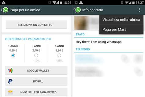 tutorial rinnovo whatsapp whatsapp introdurr 224 l opzione paga per un amico exabyte
