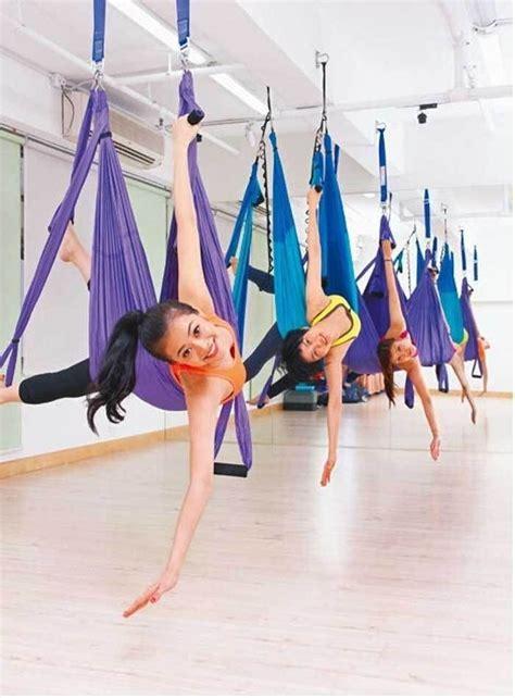 yoga inversion swing deluxe flying yoga hammock swing sling trapeze aerial yoga